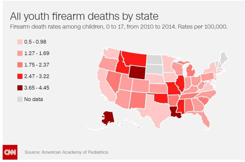 Youth Firearm Deaths by State